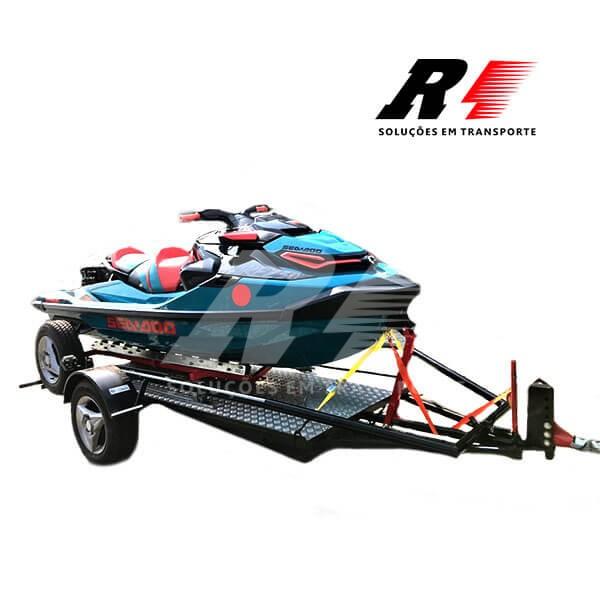 Carretinha Reboque Basculante para 01 Moto ou Jet Ski – Mach2 Multiuso