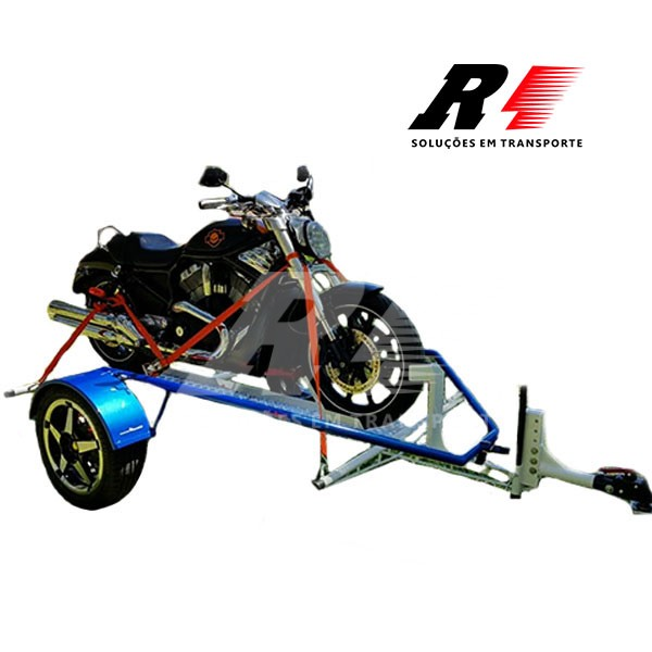 Carretinha Reboque Basculante para 01 moto Esportiva, Big Trail e Custom – Mach1