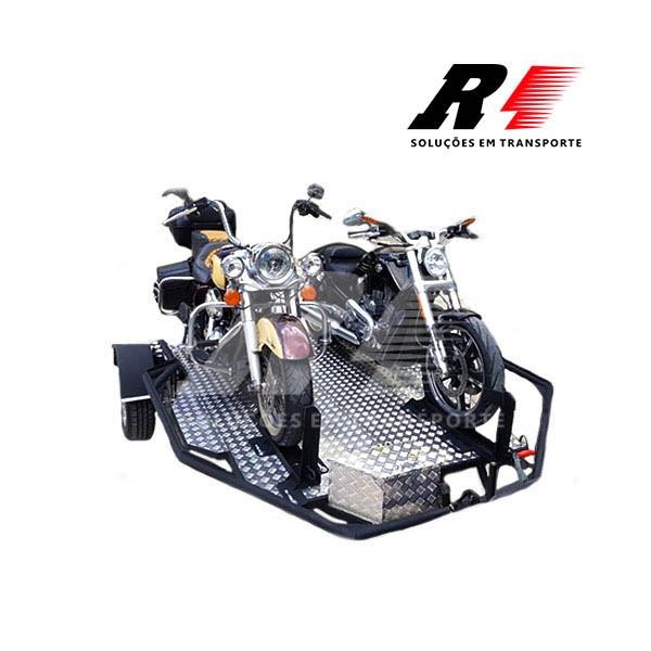 Carretinha Reboque Basculante para 02 Motos, Kart, Quadriciclo ou Triciclo – Mach3