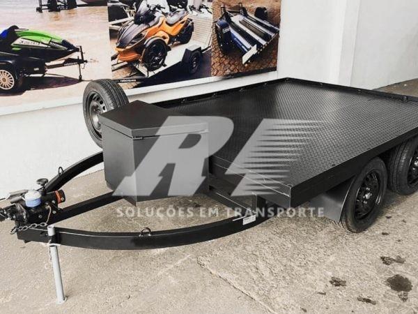 Carretinha Reboque Plataforma para 02 Quadriciclos -Tela