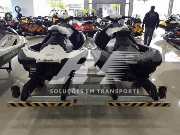 Carretinha Reboque para 02 Jet Ski Sea-Doo, Kawasaki ou Yamaha