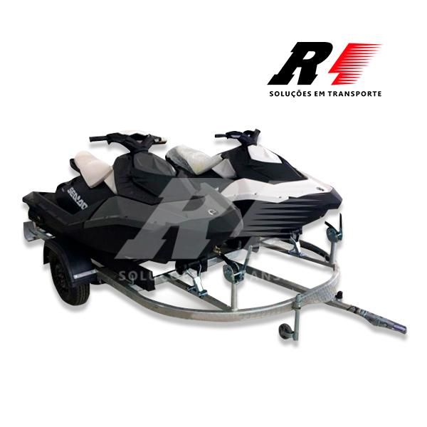 Carretinha Reboque para 02 Jet Ski Sea-Doo, Kawasaki ou Yamaha.