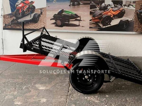 Carretinha Reboque para Transporte de Quadriciclo Basculante