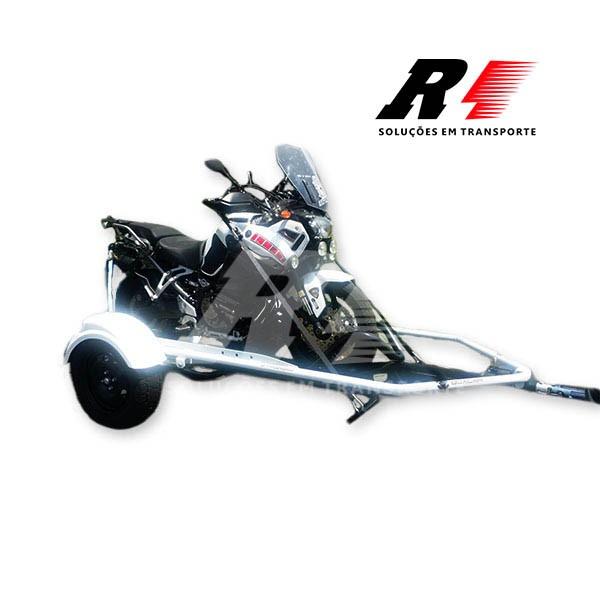 Carretinha Reboque Basculante para 01 moto, Esportiva, Big Trail e Custom – Tubular